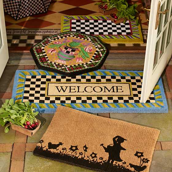 Periwinkle Double Door Welcome Mat image five