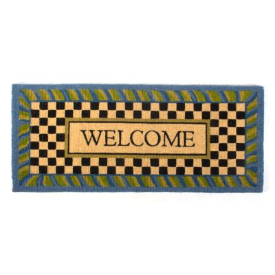 Periwinkle Double Door Welcome Mat