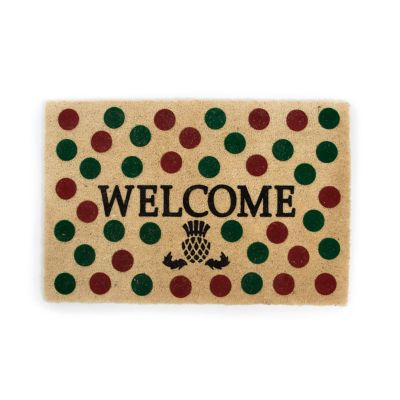 Holiday Dot Welcome Mat