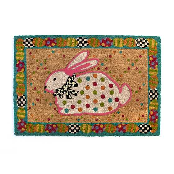 Dotty Bunny Entrance Mat image two