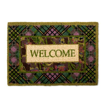 Damson Plaid Welcome Mat