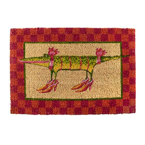 Patience Brewster Gloria Alligator Entrance Mat