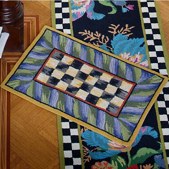 Courtly Check Rug - 2' x 3' - Purple & Green image two