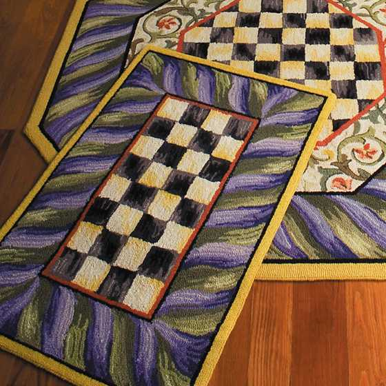 Courtly Check Rug - 2' x 3' - Purple & Green image four