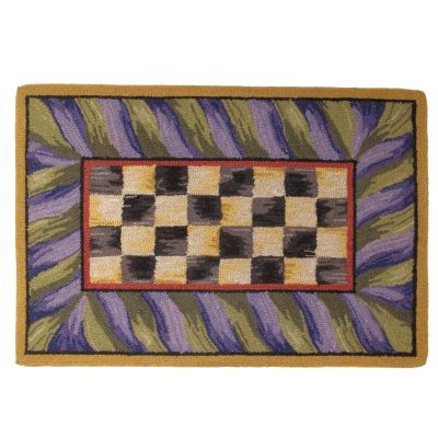 Image for Courtly Check Rug - 2' x 3' - Purple & Green