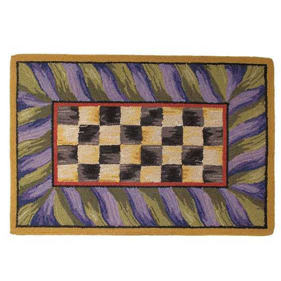 Courtly Check Rug - 2' x 3' - Purple & Green