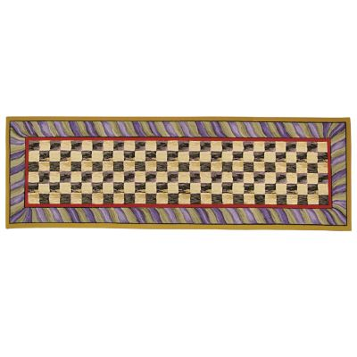 "Courtly Check Rug - 2'6"" x 8' Runner - Purple & Green"