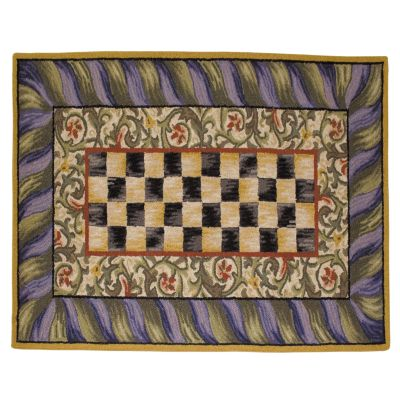 Courtly Check Rug - 3' x 5' - Purple & Green