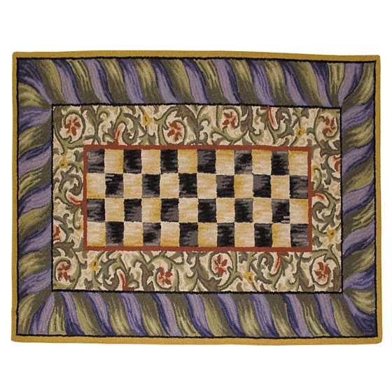Courtly Check Rug - 3' X 5' - Purple