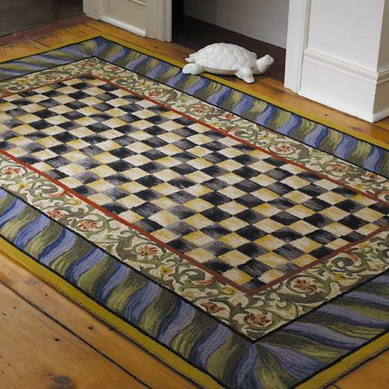 Courtly Check Rug - 5' x 8' - Purple & Green image two