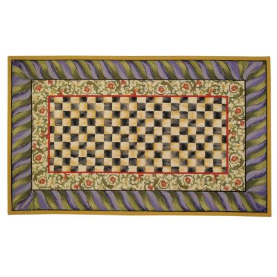Courtly Check Rug - 5' x 8' - Purple & Green