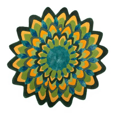 Image for Peacock Rug - 3' Round
