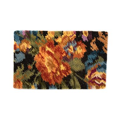 Autumn Flowers Rug - Black - 3' x 5'
