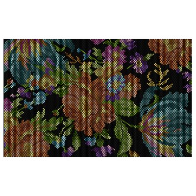 Autumn Flowers Rug - Black - 5' x 8'