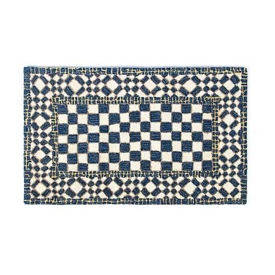 "Royal Check Rug - 2'3"" x 3'9"""