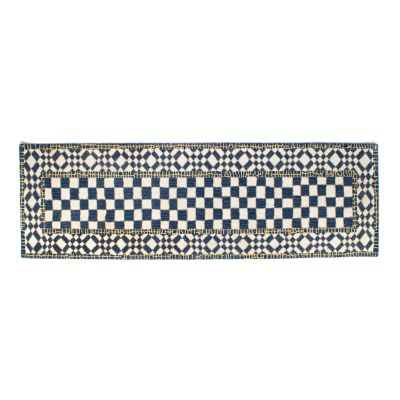 "Royal Check Rug - 2'6"" x 8' Runner"