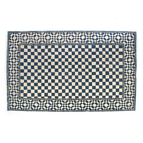 Royal Check Rug - 5' x 8' image two