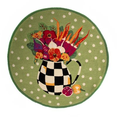 Image for Vegetable Bouquet Rug - 3' Round