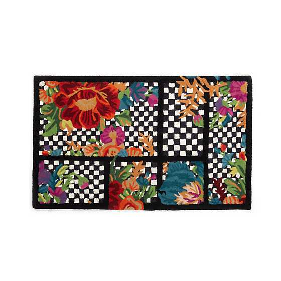 "Flower Market Trellis Rug - Black - 2'3"" x 3'9"" image one"