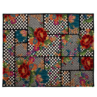 Image for Flower Market Trellis Rug - Black - 8' x 10'