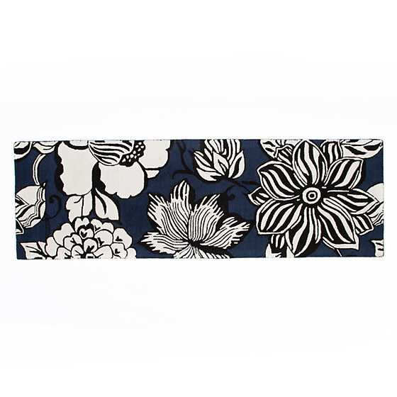 "Avant-Garden Rug - 2'6"" x 8' Runner - Blue image two"