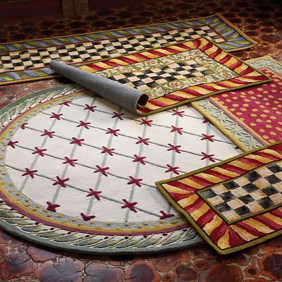 Courtly Check Rug - 2' x 3' - Red & Gold image two