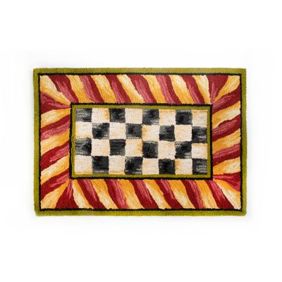 Image for Courtly Check Rug - 2' x 3' - Red & Gold