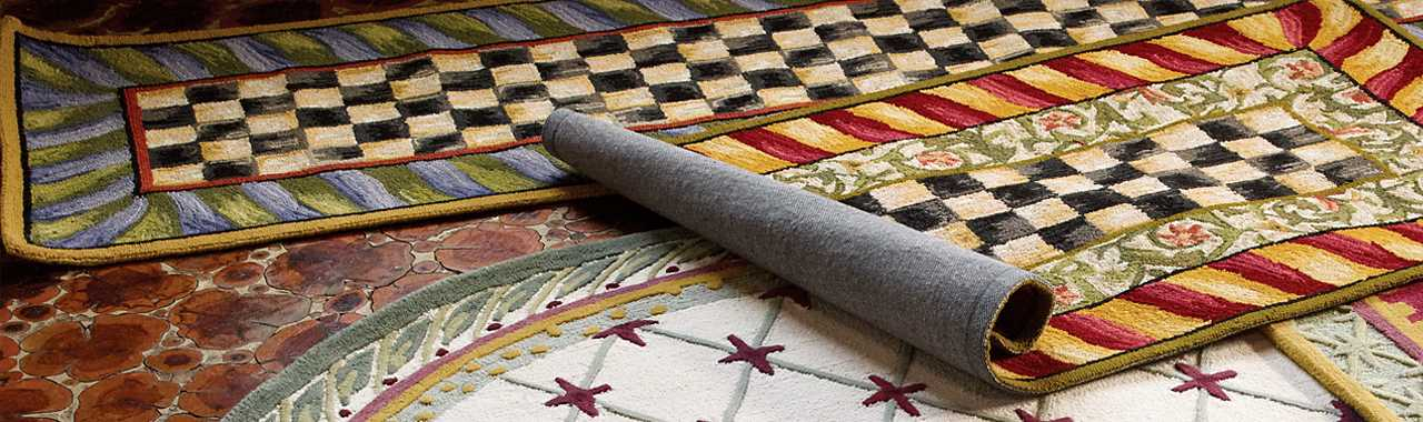 Courtly Check Rug - 3' x 5' - Red & Gold Banner Image