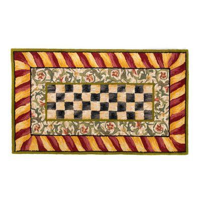 Courtly Check Rug - 3' x 5' - Red & Gold