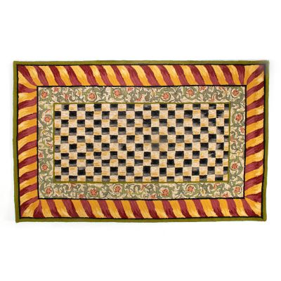 Image for Courtly Check Rug - 5' x 8' - Red & Gold