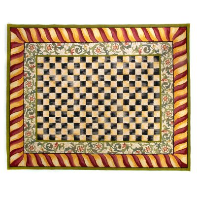 Courtly Check Rug - 8' x 10' - Red & Gold