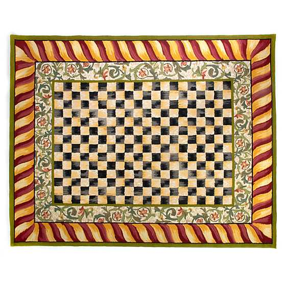 Red And White Checkered Rug: Courtly Check Rug - 8' X 10' - Red & Gold