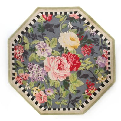 Tudor Rose Rug - 6' Octagon