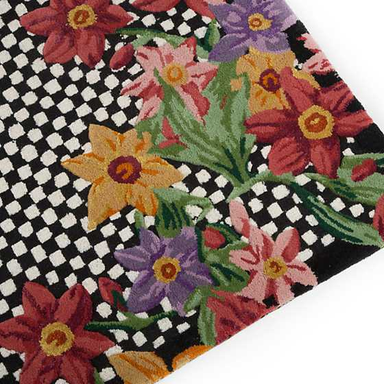 "Courtly Floret Rug - 2'6"" x 8' Runner image three"