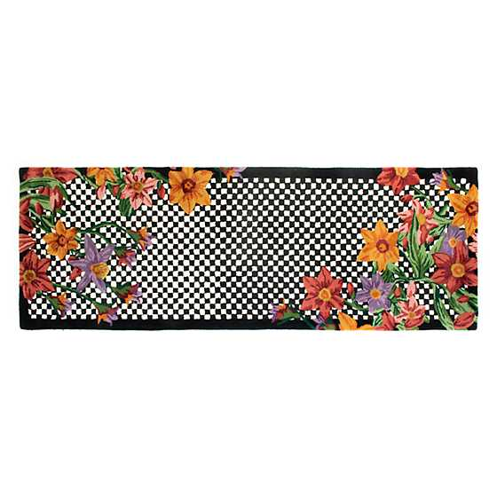 "Courtly Floret Rug - 2'6"" x 8' Runner"