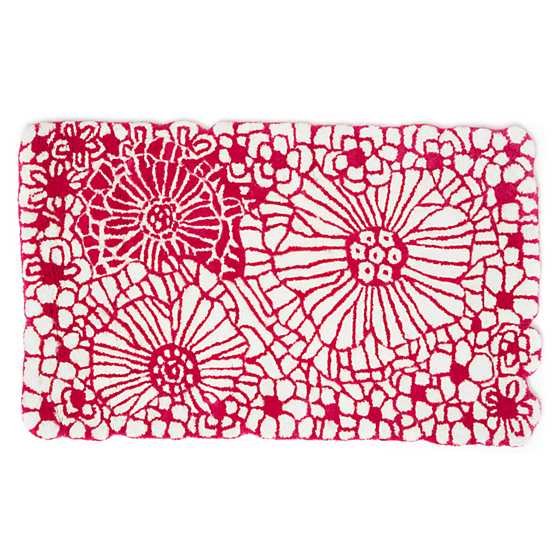 "Raspberries & Cream Floral Rug - 2'3"" x 3'9"" image two"