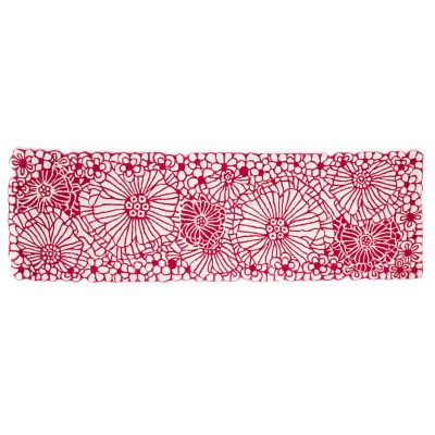 "Raspberries & Cream Floral Rug - 2'6"" x 8' Runner"