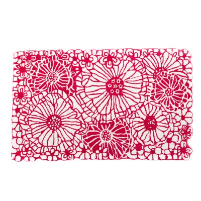 Raspberries & Cream Floral Rug - 3' x 5'