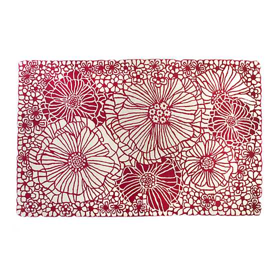 Raspberries & Cream Floral Rug - 5' x 8' image two