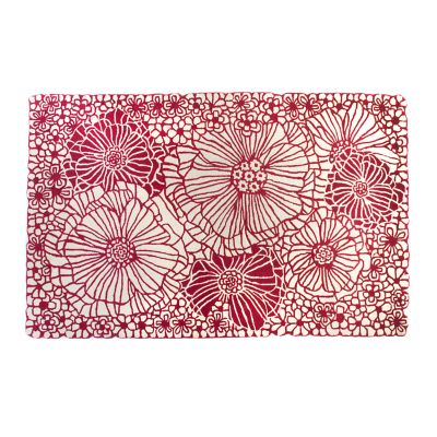 Raspberries & Cream Floral Rug - 5' x 8'