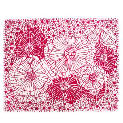 Raspberries & Cream Floral Rug - 8' x 10'
