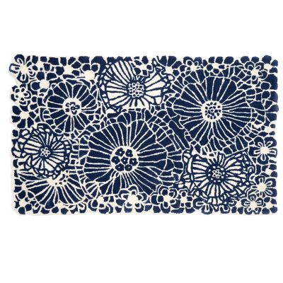Blueberries & Cream Floral Rug - 3' x 5'