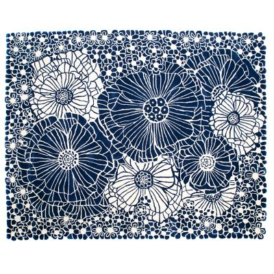 Blueberries & Cream Floral Rug - 8' x 10'