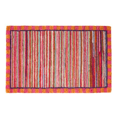 "Super Pink Striped Rug - 2'3"" x 3'9"""