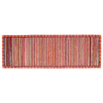 "Super Pink Striped Rug - 2'6"" x 8' Runner"
