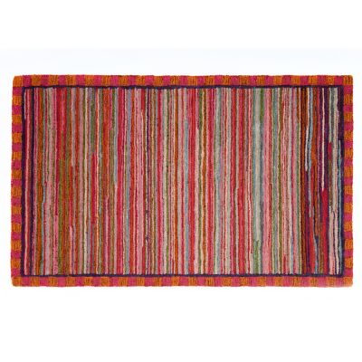 Super Pink Striped Rug - 3' x 5'