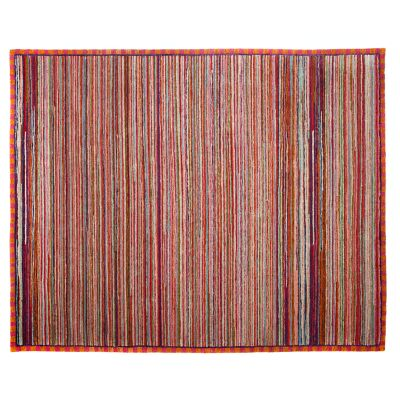 Super Pink Striped Rug - 8' x 10'
