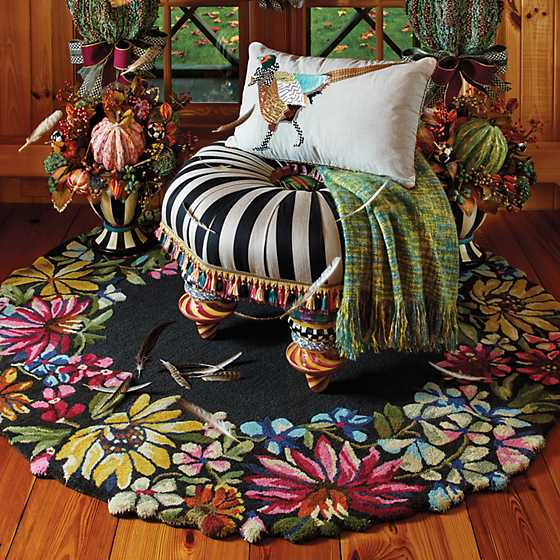 Butterfly Garden Rug - 6' Round image two