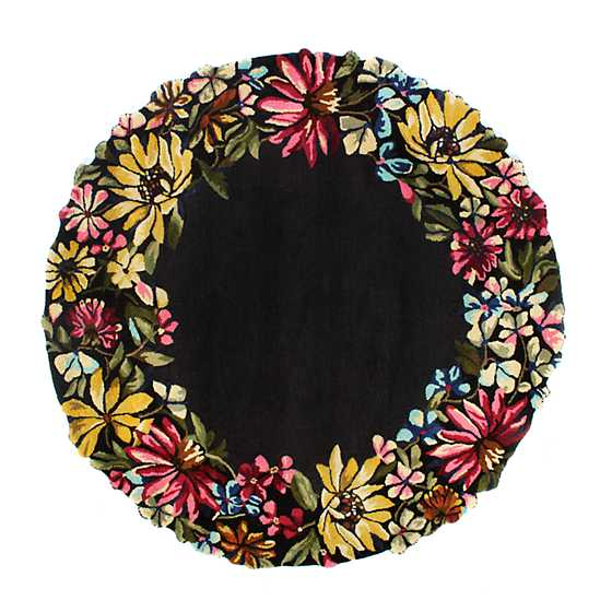 Butterfly Garden Rug - 6' Round image one
