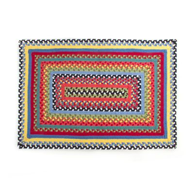 Crayon Braided Rug - 2' x 3' - Red